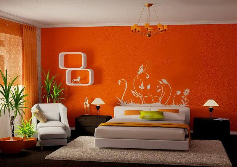 beautiful-orange-paint