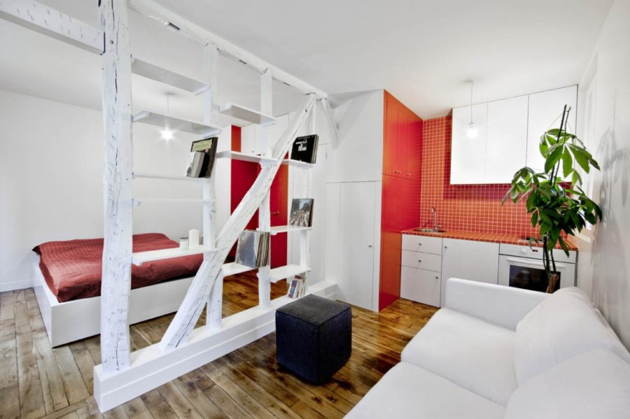 24-square-meter apartment in Montmartre