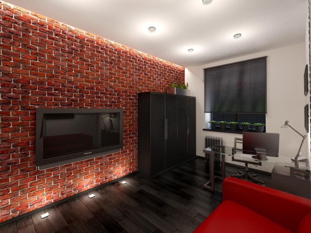 первую очередь фото дизайна гостиной с декоративным кирпичом цыпочки моют