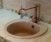 Vintage bronze faucet for Provence Style Kitchen