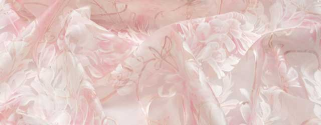 Silk organza fabric